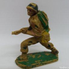 Figuras de Goma y PVC: ANTIGUA FIGURA EN PLASTICO DE PECH HERMANOS. SERIE SOLDADOS AMERICANOS. 60 MM.. Lote 119483287