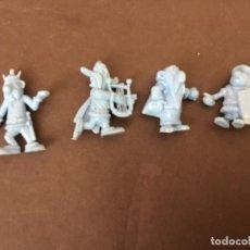 Figuras de Goma y PVC: 4 FIGURAS DE ASTERIX Y OBELIX DUNKIN. Lote 119531179