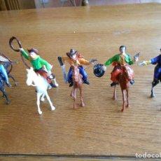 Figuras de Goma y PVC: 10 FIGURAS, INDIOS, VAQUEROS, COMANSI 1ª EPOCA. Lote 119533683