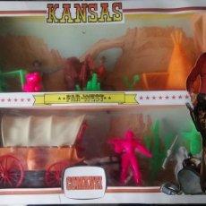 Figuras de Goma y PVC: CAJA KANSAS FAR-WEST DE COMANSI.. Lote 119878956
