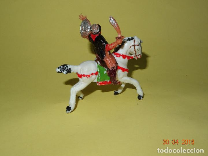 Figuras de Goma y PVC: Antiguo BEN YUSUF a Caballo de Plástico Pintado a Mano de JECSAN - Año 1960s. - Foto 2 - 119918087