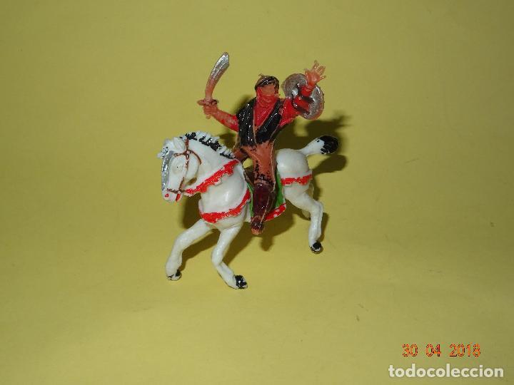 Figuras de Goma y PVC: Antiguo BEN YUSUF a Caballo de Plástico Pintado a Mano de JECSAN - Año 1960s. - Foto 4 - 119918087