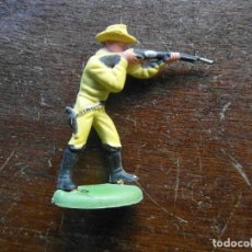 Figuras de Goma y PVC: FIGURA DE VAQUERO CON RIFLE. BRITAINS LTD. MADE IN HONG KONG. Lote 119959195