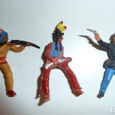 Figuras de Goma y PVC: LOTE INDIOS PLÁSTICO. Lote 120077983