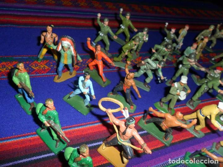 Figuras de Goma y PVC: LOTE 53 FIGURA PLASTICO STARLUX INDIOS HURONES VAQUEROS SOLDADOS AMERICANOS BOINAS ROJAS. MBE RARAS - Foto 5 - 120179743