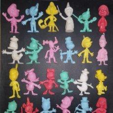 Figuras de Goma y PVC: FIGURAS YUPI - DUNKIN. COLECCION COMPLETA CABEZONES DISNEY. 1985. Lote 120189475