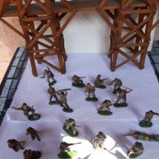 Figuras de Goma y PVC: JECSAN PUENTE SOBRE RIO KWAI FIGURAS EN GOMA. Lote 120220328