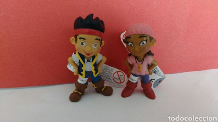 LOTE FIGURAS PVC IZZY Y JAKE LOS PIRATAS DE NUNCA JAMAS NARCA BULLYLAND (Juguetes - Figuras de Goma y Pvc - Bully)