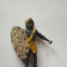 Figuras de Goma y PVC: FIGURA GUERRERO NEGRO ARCLA. Lote 120351663