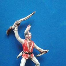 Figuras de Goma y PVC: FIGURA JINETE INDIO JECSAN GOMA. Lote 120352155