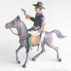 Figuras de Goma y PVC: VAQUERO DEL OESTE A CABALLO. Lote 120446259