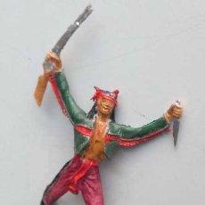 Figuras de Goma y PVC: ANTIGUO GUERRERO INDIO DE COMANSI. Lote 120444195
