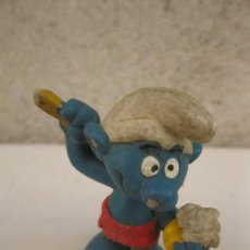 Figuras de Goma y PVC: PITUFO EN LA DUCHA - FIGURA DE PVC - PEYO - SCHLEICH - AÑO 1979.. Lote 120502847