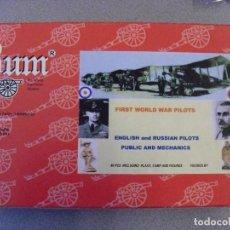 Figuras de Goma y PVC: BUM - MONTAPLEX - MONTAMAN - 1/72 - PILOTOS WWI. Lote 120535823