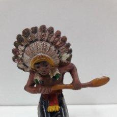 Figuras de Goma y PVC: REMERO INDIO PARA CANOA . REALIZADO PÒR PECH . AÑOS 50 EN GOMA. Lote 120544071