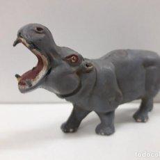 Figuras de Goma y PVC: HIPOPOTAMO . REALIZADO POR PECH . SERIE FIERAS . AÑOS 50 EN GOMA. Lote 120548699