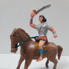 Figuras de Goma y PVC: EL JABATO A CABALLO . REALIZADO POR ESTEREOPLAST . AÑOS 60. Lote 120561715