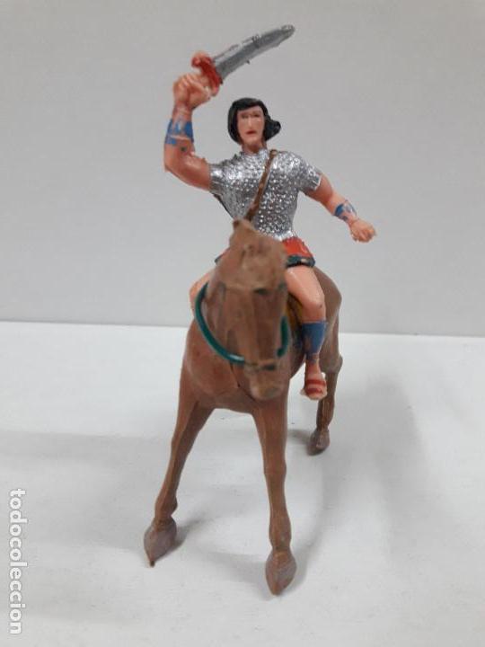 Figuras de Goma y PVC: EL JABATO A CABALLO . REALIZADO POR ESTEREOPLAST . AÑOS 60 - Foto 3 - 120561715