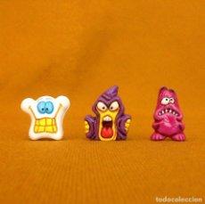 Figuras de Goma y PVC: 3 GOGOS. DUNKIN DE LUXE. POLÍCROMAS.. Lote 120813931