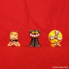 Figuras de Goma y PVC: 3 GOGOS. DUNKIN DE LUXE. POLÍCROMAS.. Lote 120813943