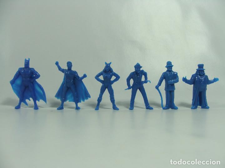 BATMAN ROBIN CATWOMAN JOKER RIDDLER PINGÜINO - SET AZUL COMPLETO -ESTILO DUNKIN HECHAS EN VENEZUELA (Juguetes - Figuras de Goma y Pvc - Dunkin)