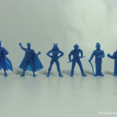 Figuras de Goma y PVC: BATMAN ROBIN CATWOMAN JOKER RIDDLER PINGÜINO - SET AZUL COMPLETO -ESTILO DUNKIN HECHAS EN VENEZUELA . Lote 120840431