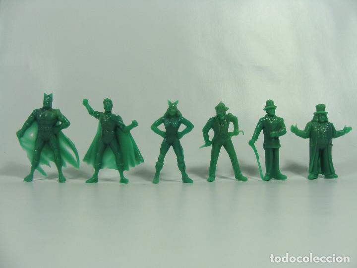 BATMAN ROBIN CATWOMAN JOKER RIDDLER PINGÜINO - SET VERDE COMPLETO ESTILO DUNKIN HECHAS EN VENEZUELA (Juguetes - Figuras de Goma y Pvc - Dunkin)