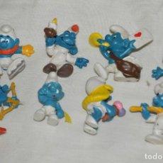 Figuras de Goma y PVC Schleich: LOTE DE FIGURITAS LOS PITUFOS - THE SMURFS - BULLY Y SCHLEICH - VARIADAS - MIRA LAS FOTOS - ANTIGUAS. Lote 120902483