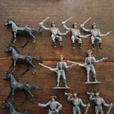 Rubber and PVC Figures - LOTE COMANSI WESTERN CONFEDERADOS SUDISTAS. AÑOS 80'S. - 120936318