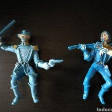 Figuras de Goma y PVC: LOTE 2 SOLDADOS SEPTIMO CABALLERIA OESTE 70 COMANSI ¿. Lote 120950786