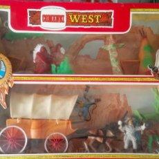 Figuras de Goma y PVC: CAJA COMPLETA DE COMANSI WEST.. Lote 120991322