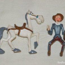 Figuras de Goma y PVC: VINTAGE - DON QUIJOTE Y ROCINANTE DE ROMAGOSA - FIGURAS DE PVC - MUY RARAS Y BUSCADAS - HAZ OFERTA. Lote 121053875
