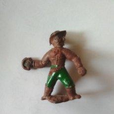Figuras de Goma y PVC: RARO VAQUERO GOMA PECH, CAPELL. Lote 121165107