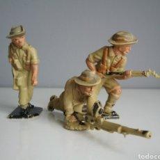 Figuras de Goma y PVC: TROPAS DEL DESIERTO, SOLDADOS AUSTRALIANOS (ANZAC), SERIE COMPLETA DE LONE STAR, TAMAÑO BRITAINS. Lote 121411655
