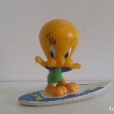 Figuras de Goma y PVC: MUÑECO EN PVC LOONEY TUNES: PIOLÍN SURFISTA. FIGURA 5 CM. 1998 WARNER BROS BULLYLAND GERMANY. Lote 121513659
