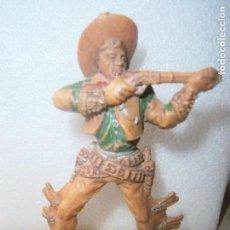 Figuras de Goma y PVC: ANTIGUO VAQUERO PLÁSTICO. OESTE. GRANDES DIMENSIONES. LAFREDO.. Lote 121523043