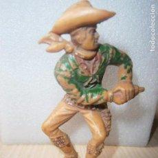 Figuras de Goma y PVC: ANTIGUO VAQUERO PLÁSTICO. OESTE. GRANDES DIMENSIONES. LAFREDO.. Lote 121523123
