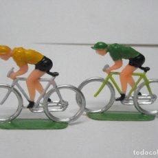 Figuras de Goma y PVC: CICLISTAS SOTORRES AÑOS 60. Lote 121552251