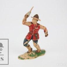Figuras de Goma y PVC: FIGURA DE PLÁSTICO - POLICÍA MONTADA DEL CANADÁ DE REAMSA - AÑOS 60. Lote 121729819