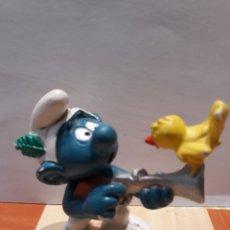 Figuras de Goma y PVC: PITUFO CAZADOR - BULLY. Lote 121775128