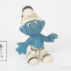 Figuras de Goma y PVC: FIGURA DE GOMA - PITUFO CEBRA - AÑOS 80 - EURA SPAIN. Lote 121881831
