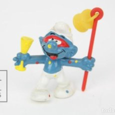 Figuras de Goma y PVC: FIGURA DE GOMA - PITUFO BORRACHO - AÑOS 80 - PEYO - BULLY - MADE IN ALEMANIA. Lote 121882091