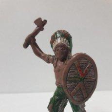 Figuras de Goma y PVC: GUERRERO INDIO . REALIZADO POR LAFREDO . AÑOS 50 EN GOMA. Lote 121905151