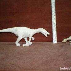 Figuras de Goma y PVC: LOTE 2 FIGURAS PLASTICO, DINOSAURIOS VELOCIRAPTOR CON PEZ LOS DE LA FOTO. Lote 121925659