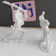 Figuras de Goma y PVC: ANTIGUA FIGURA JECSAN VAQUEROS Y INDIOS . Lote 121983799