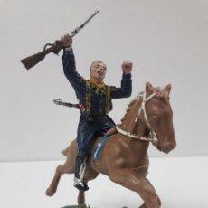 Figuras de Goma y PVC: SOLDADO FEDERAL HERIDO A CABALLO - 7º DE CABALLERIA . FIGURA REAMSA . BATALLA LITTLE BIG HORN. Lote 122006923