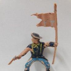 Figuras de Goma y PVC: SOLDADO FEDERAL ABANDERADO PARA CABALLO - 7º DE CABALLERIA . FIGURA REAMSA . BATALLA LITTLE BIG HORN. Lote 122008159