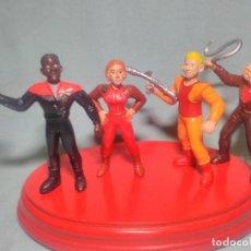 Figuras de Goma y PVC: 4 FIGURAS DE STAR TREK MARCA YOLANDA DE 1994 , EN GOMA PVC.. Lote 122035819
