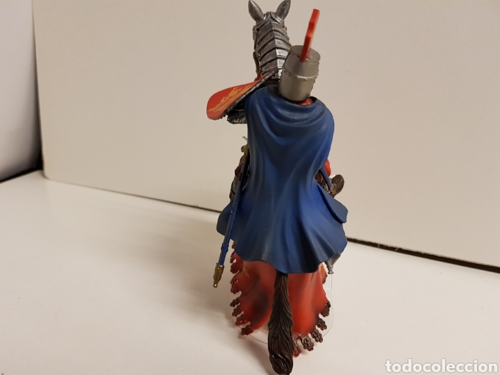 Figuras de Goma y PVC: Figura caballero medieval inglés en goma plástica majestuoso medidas 14,5 x 10 cm - Foto 6 - 122096367
