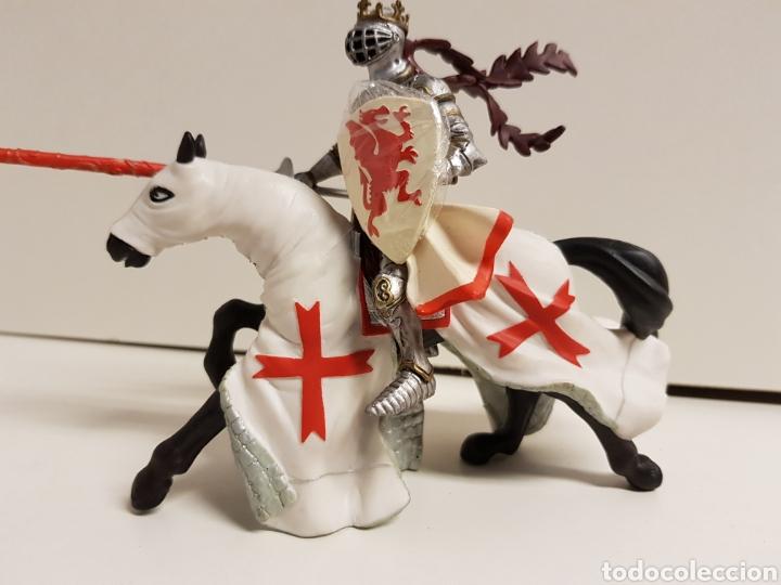 Figuras de Goma y PVC: Rey medieval a caballo de justa en goma plástica papo - Foto 2 - 122096754